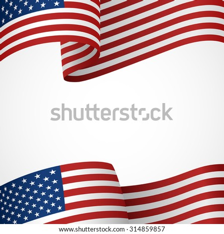Decoration of United States of America insignia on white #314859857