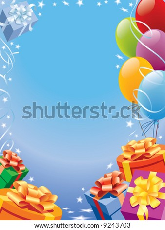 Decoration ready for birthday and party, vector
