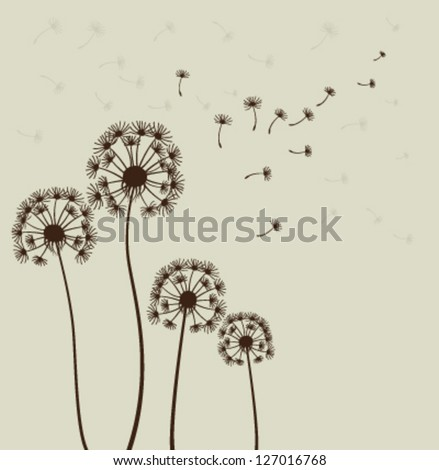 decoration with dandelions