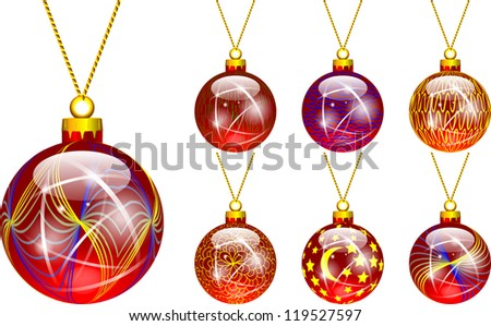 decorations for Christmas tree red
