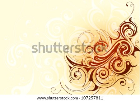 Decorative abstraction with swirls