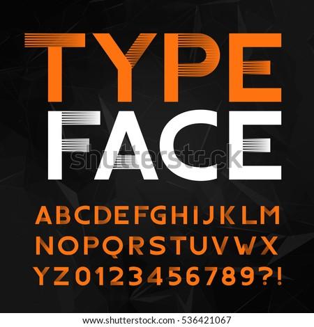decorative alphabet typeface