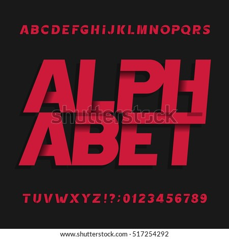 decorative alphabet vector font