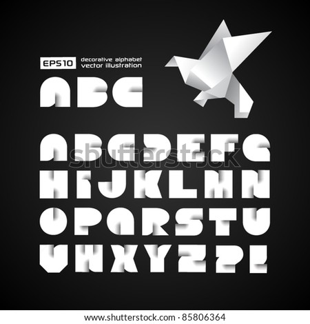 Decorative Alphabet With Origami Object