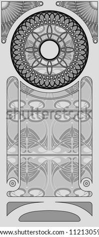 Decorative Art Nouveau Background. - stock vector