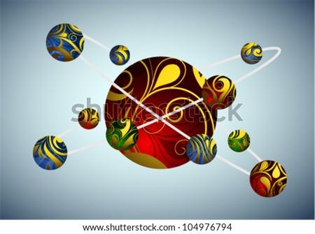 Decorative atom illustration