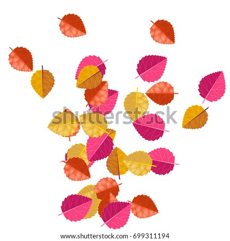 decorative autumn leafs red