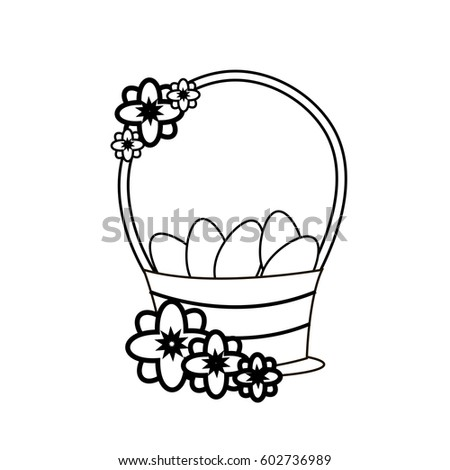decorative basket with easter