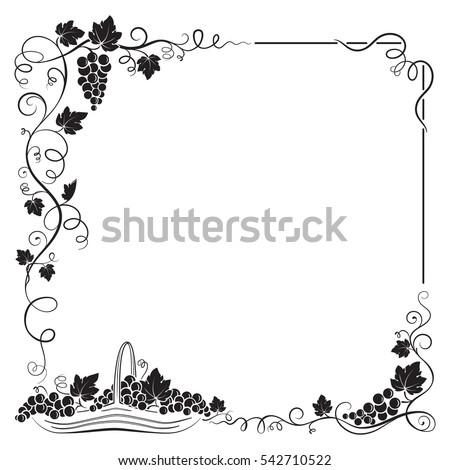 decorative black frame formed