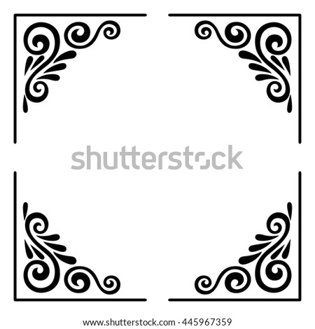 royalty free stock photos and images decorative black square frame