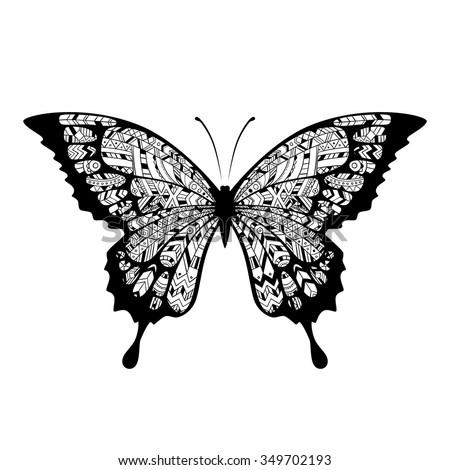 decorative boho butterfly