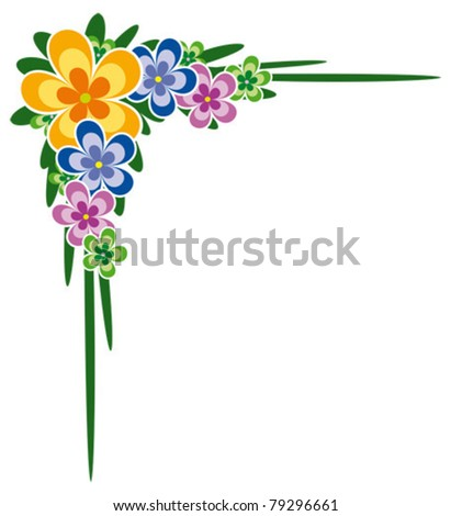 Flower Picture Frames on Decorative Bouquet Of Flowers Ideal For Frames  Letterhead  Borders