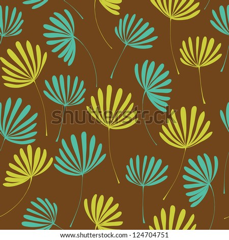 Decorative bright endless texture with colorful stylized flowers. Seamless floral pattern, template for design and decoration - stock vector