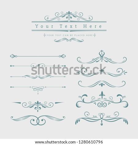 Decorative calligraphic ornaments vector set