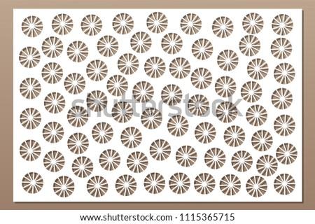 decorative card for cutting