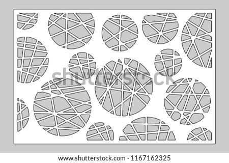 6375e63cdd27 Decorative card for cutting laser or plotter. geometric art circle pattern  panel. Laser cut