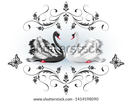 decorative card with black and