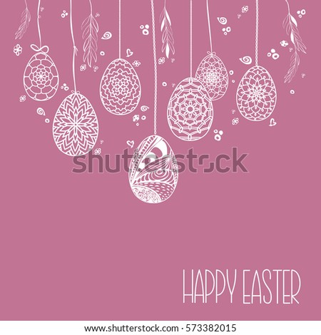 decorative card with hanging