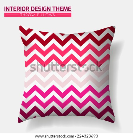 decorative cheerful zig zag