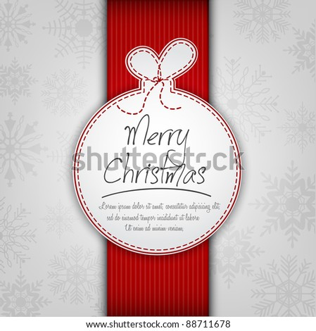 Decorative Christmas Ball Background - stock vector