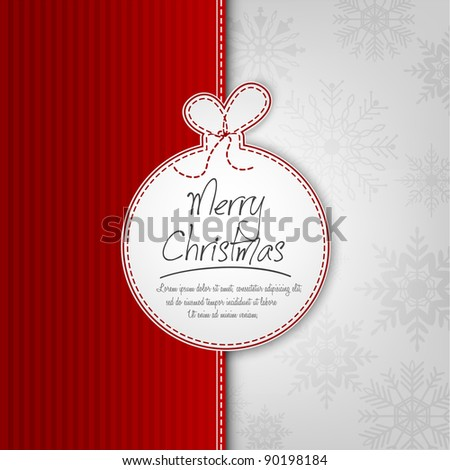Decorative Christmas Ball Background