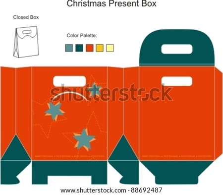 Decorative Christmas Box with die cut tchristmas ornaments