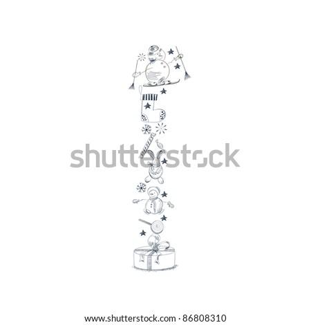 decorative christmas font