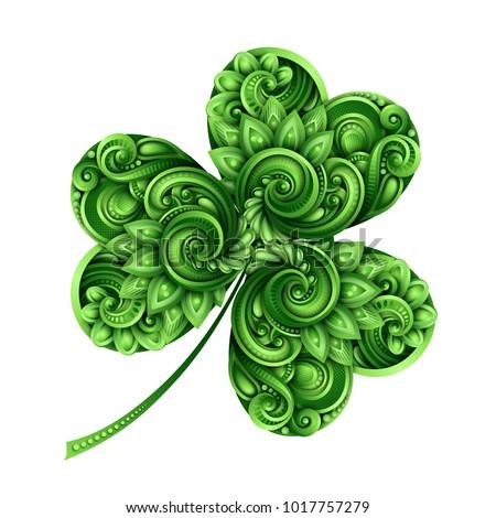 decorative clover leaf talisman
