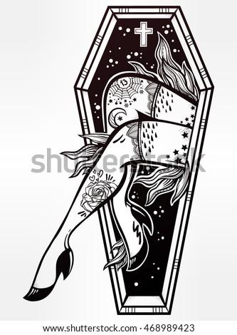 decorative coffin in flash