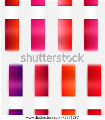 Decorative Color Ribbons Different Red Colors Stock