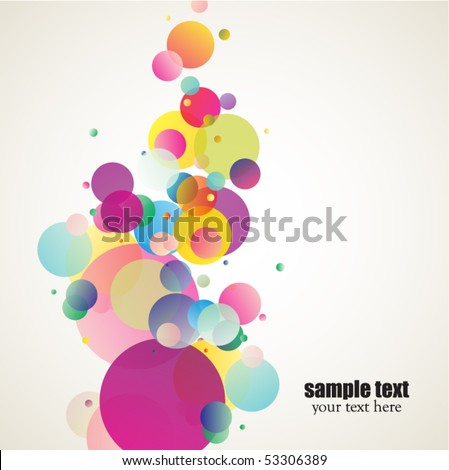 decorative colorful circles