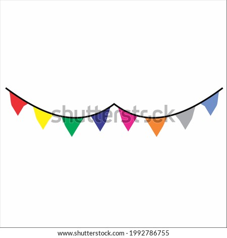 Decorative colorful flags for parties