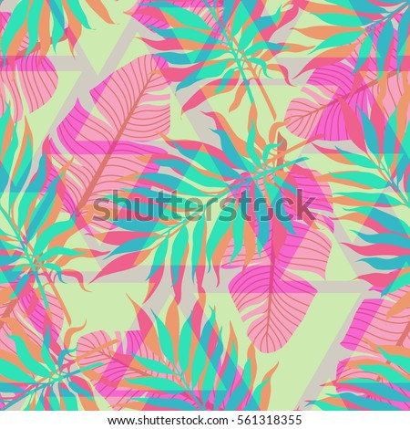 decorative colorful palm tree