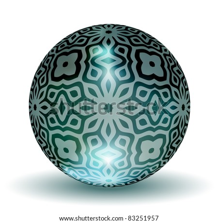 Decorative Crystal Ball - EPS10 Vector - stock vector
