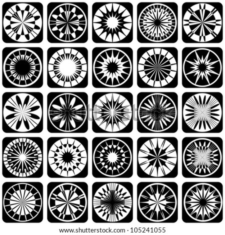 Decorative design elements. Patterns set. Vector art.