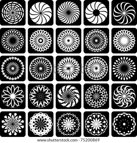 Decorative design elements. Patterns set. Vector art.