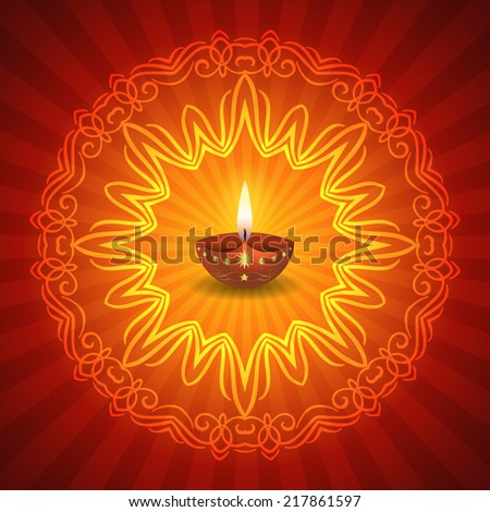 decorative diwali lamp with