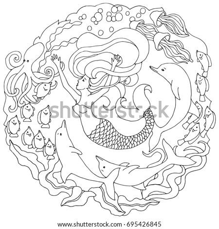 decorative element with mermaid