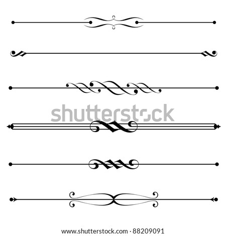 stock-vector-decorative-elements-border-and-page-rules