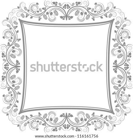 decorative floral border - clip art illustration - stock vector