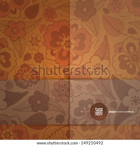 decorative floral card vector