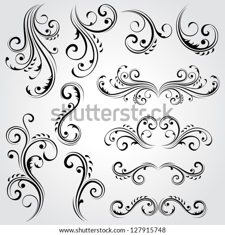 stock-vector-decorative-floral-elements