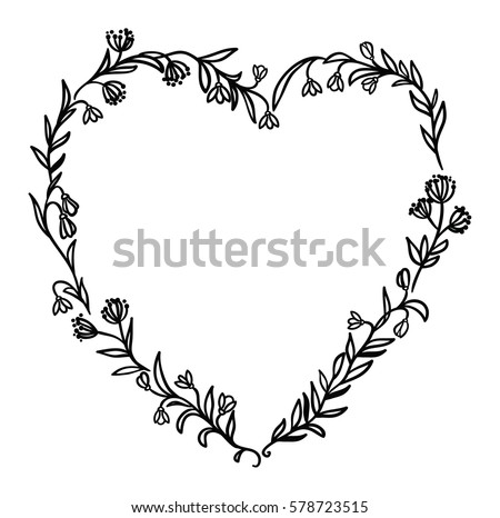 decorative floral frame with