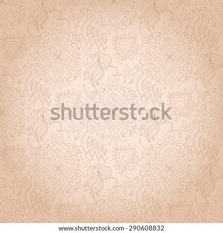 stock-vector-decorative-floral-monochromatic-brown-seamless-texture-element-for-design-ornamental-backdrop