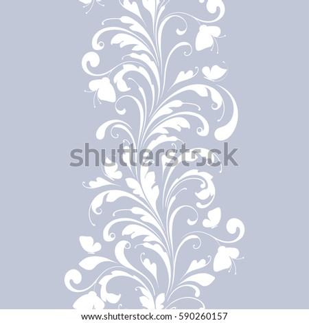 decorative floral seamless...