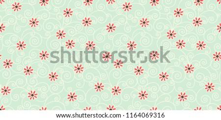 decorative flower seamless pattern, paisley indian design vector illustration