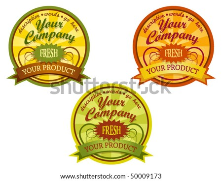 decorative food labels