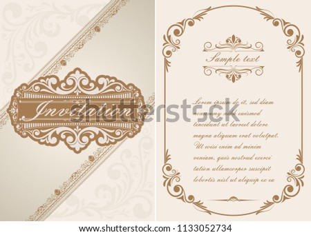 Luxury invitation floral premium background download vetores e decorative frame in vintage style with beautiful filigree and retro border for premium invitation or wedding stopboris Image collections