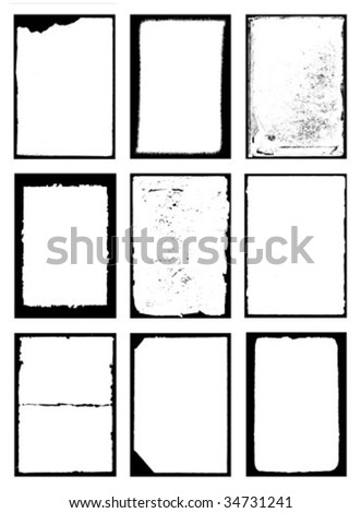 decorative frame on white background. vector
