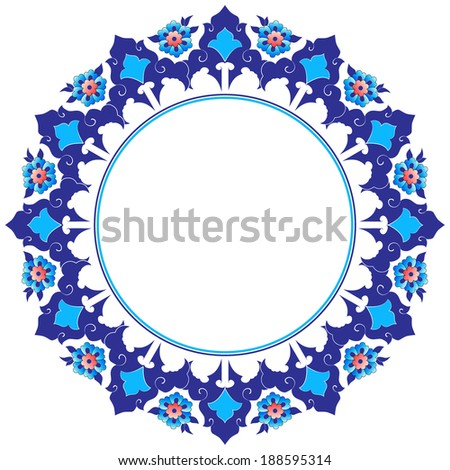 Decorative frame pattern drawn in the old style